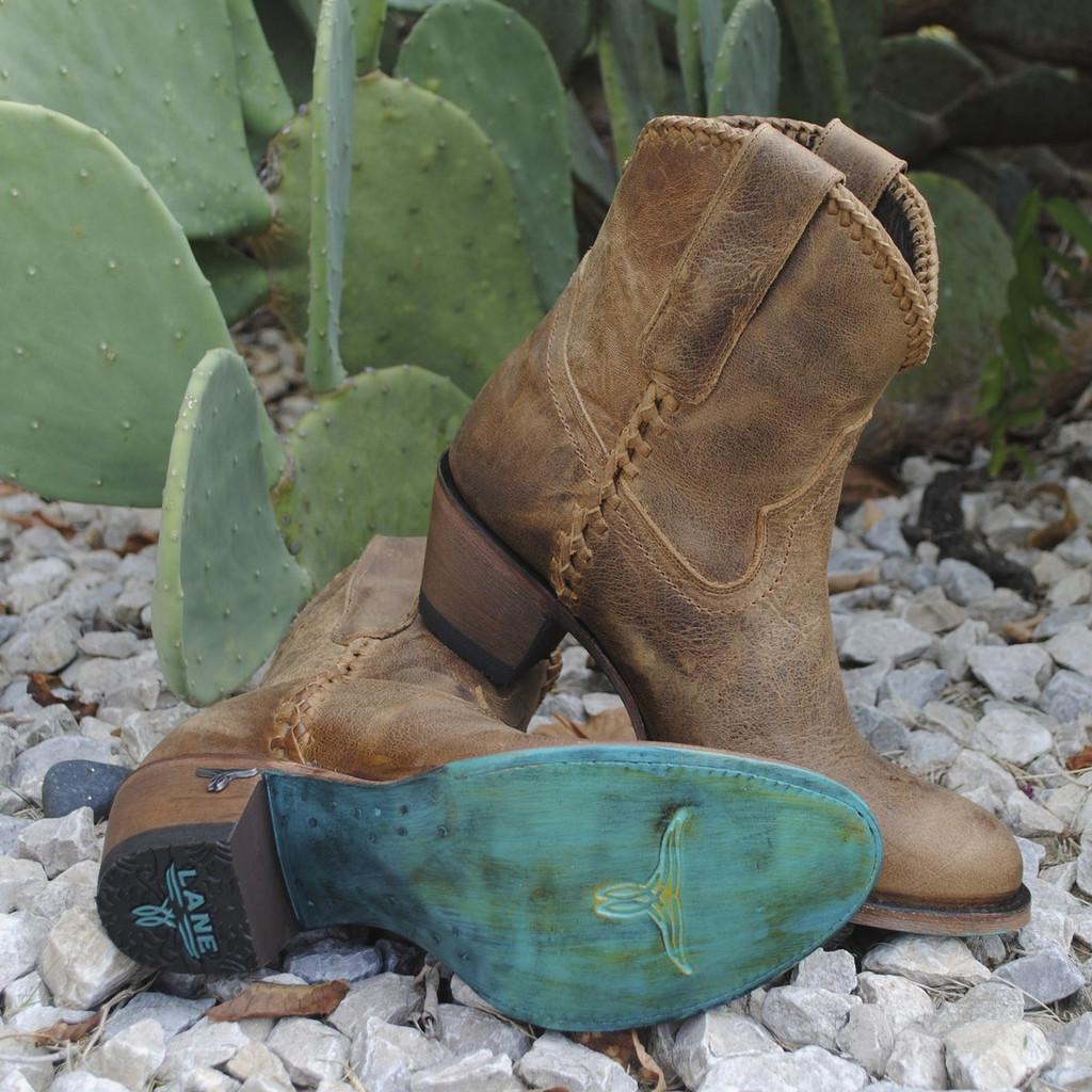 Lane Plain Jane Shortie Brown Boots LB0359A Image