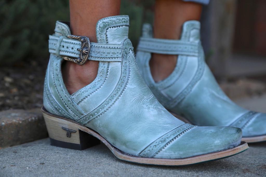 Lane Cahoots Turquoise Boots LB0393D Detail