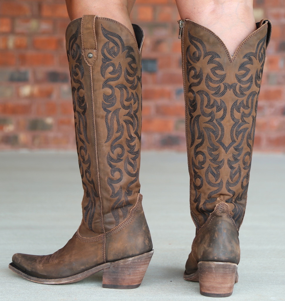 Liberty Black Allie Vegas T Moro Stonewash Boots LB712988 Heel