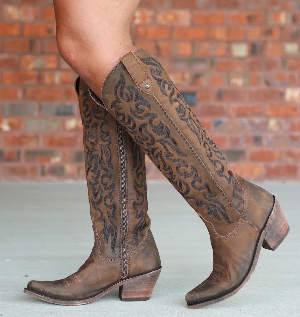 Liberty Black Allie Vegas T Moro Stonewash Boots LB712988 Zipper