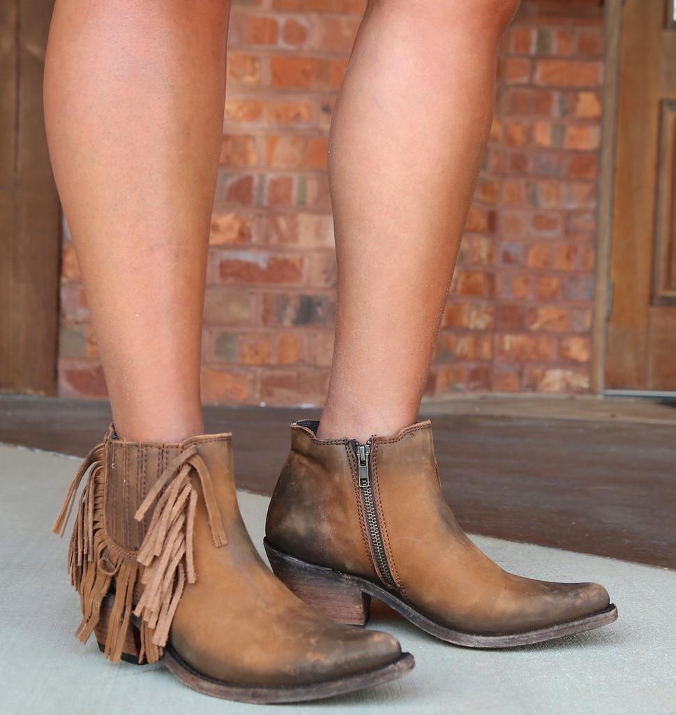 Liberty Black Faggio Side Fringe Boots LB712948 Picture