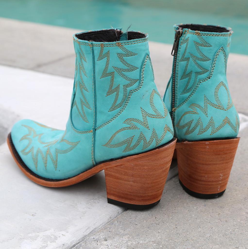 Liberty Black Katherine Boots Nobuck Grease Turqueza LB712313 Heel