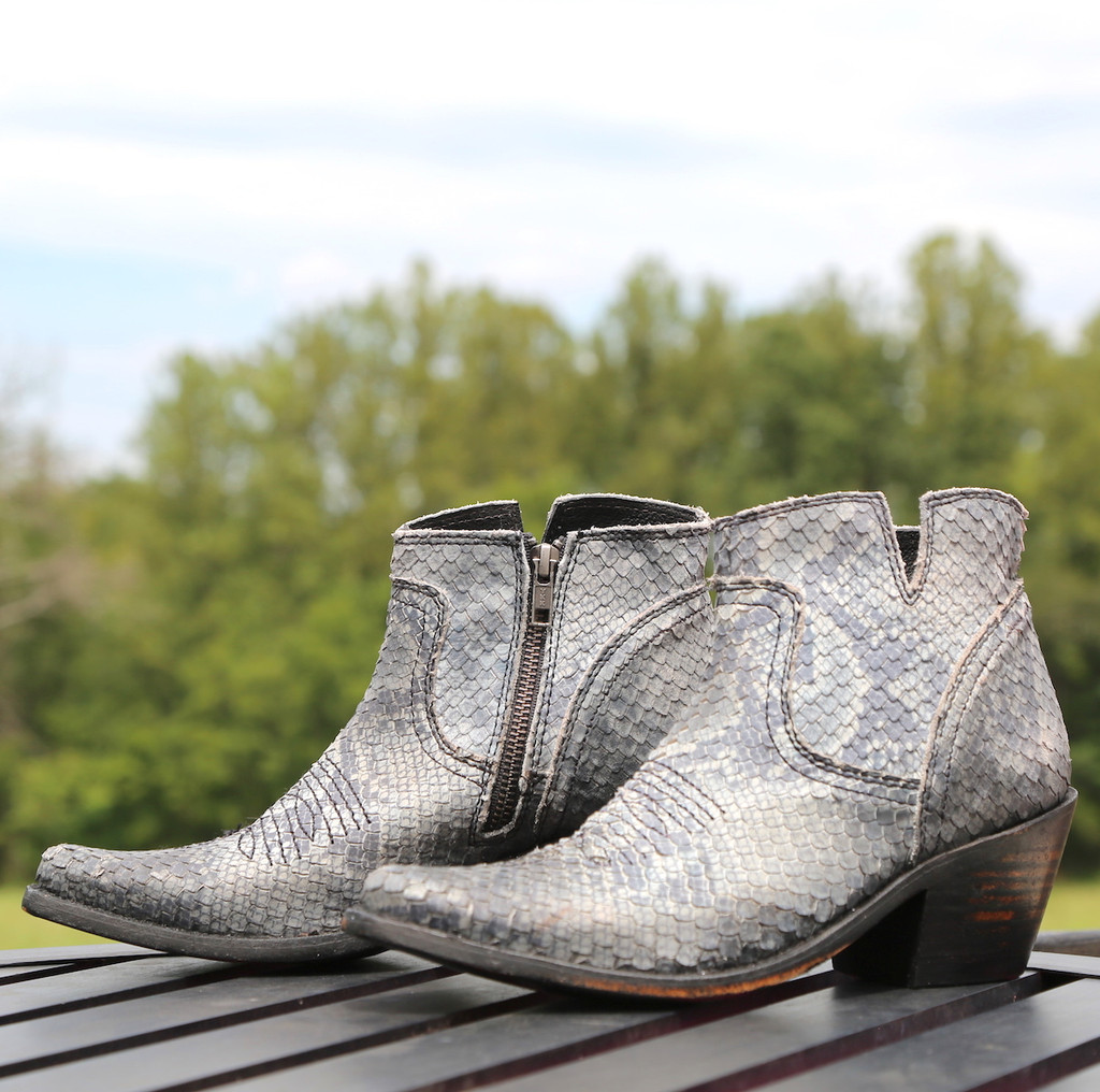 Liberty Black Prya Python Gris Boots LB711246 Picture