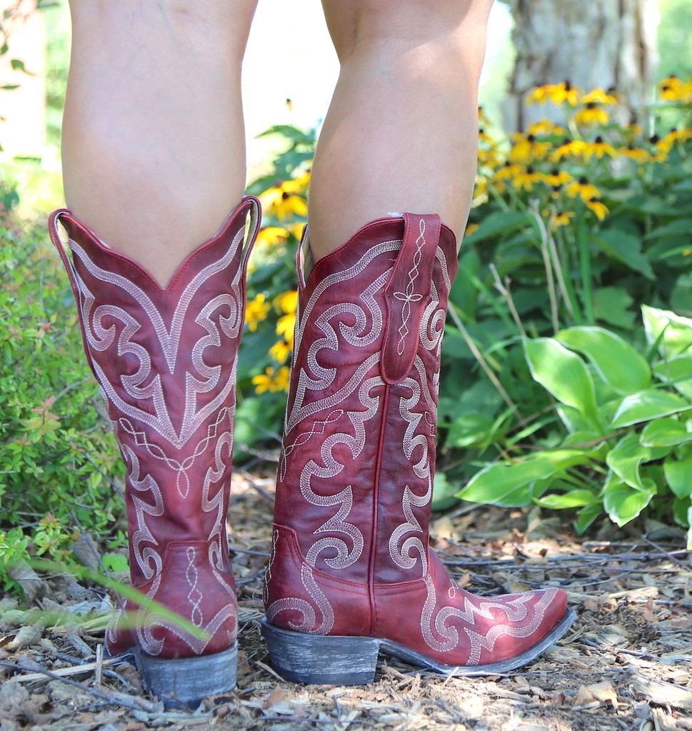 Yippee by Old Gringo Vittoria Red Boots YL277-7 Heel