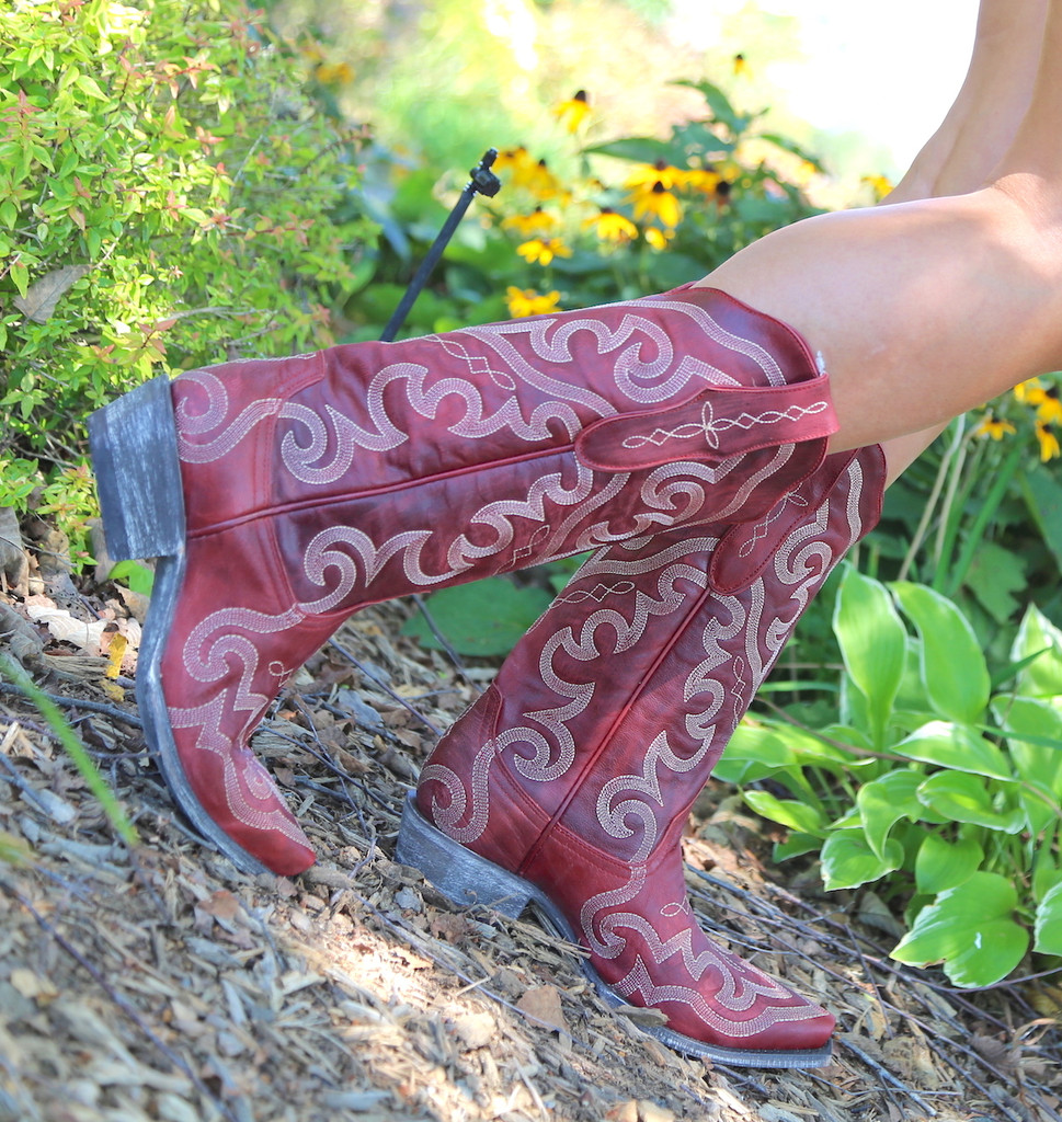 Yippee by Old Gringo Vittoria Red Boots YL277-7 Image