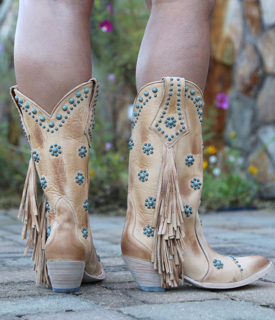 Old Gringo Savannah Straw Boots L3188-1 Heel