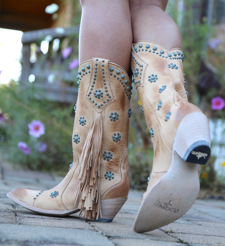 Old Gringo Savannah Straw Boots L3188-1 Side