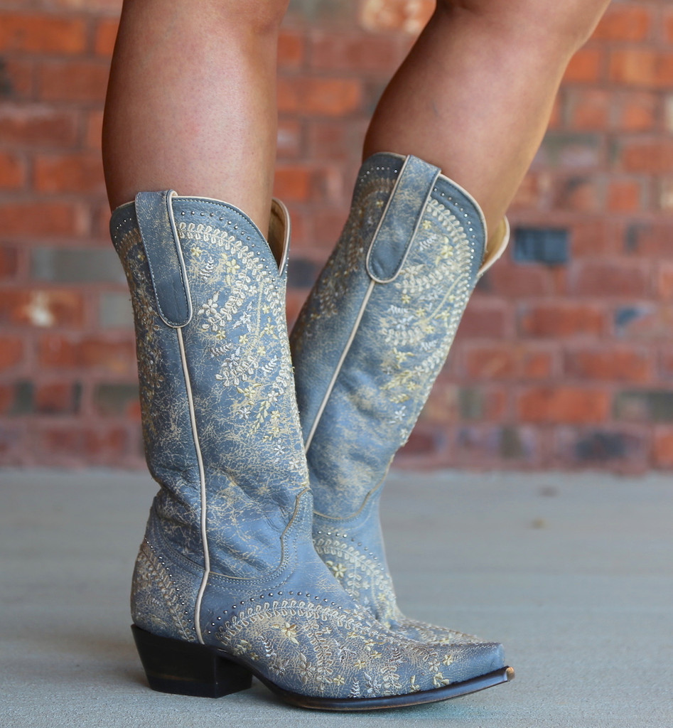 Yippee by Old Gringo Anya Crackled Grey Boots YL344-3 Picture