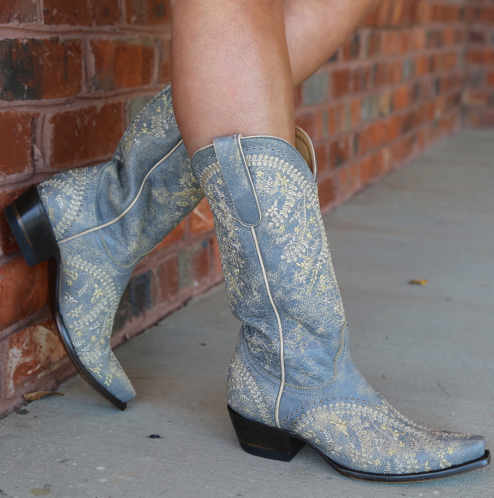 Yippee by Old Gringo Anya Crackled Grey Boots YL344-3 Photo