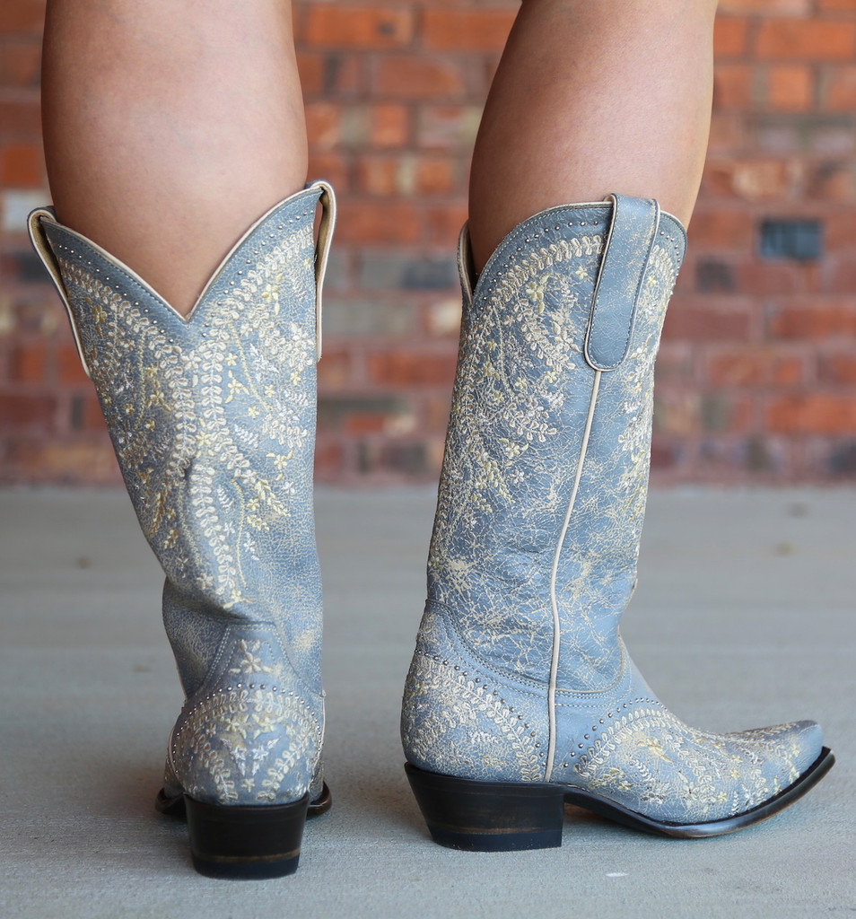 Yippee by Old Gringo Anya Crackled Grey Boots YL344-3 Heel