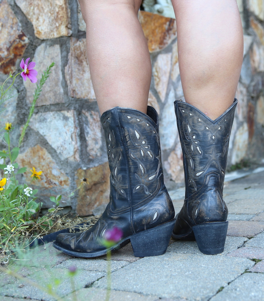 Yippee by Old Gringo Reno Rustic Beige Black Boots YL361-1 Heel