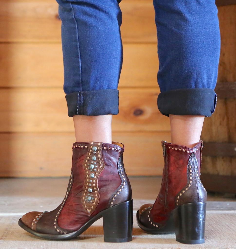 Old Gringo Cheryl Short Chocolate Boots BL3194-1 Heel