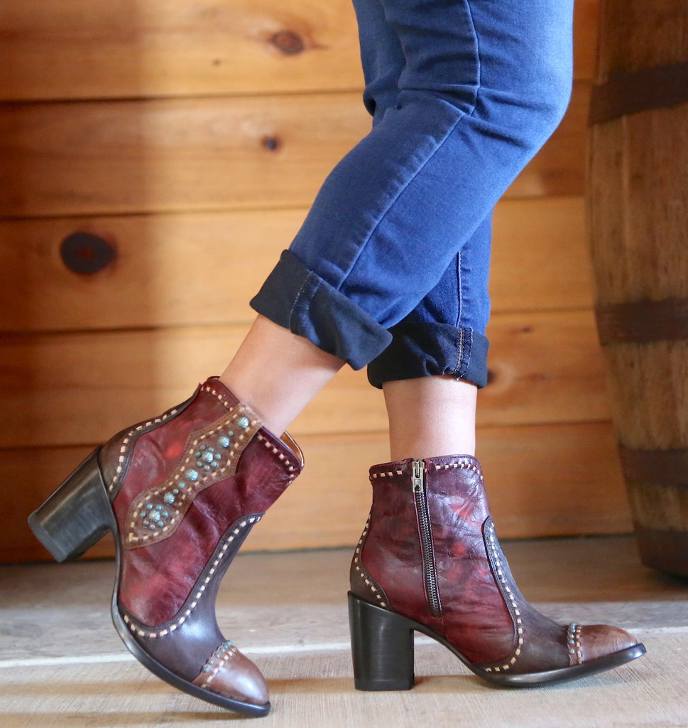Old Gringo Cheryl Short Chocolate Boots BL3194-1 Picture