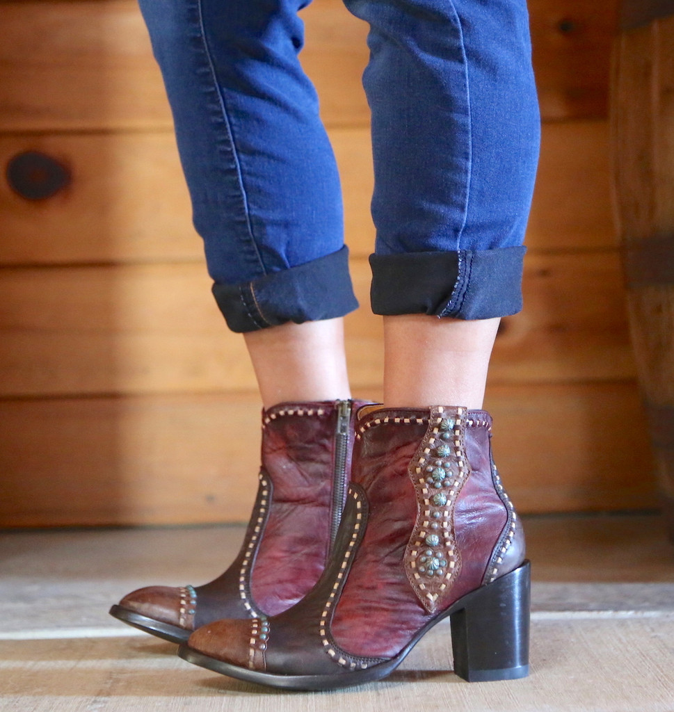 Old Gringo Cheryl Short Chocolate Boots BL3194-1 Image