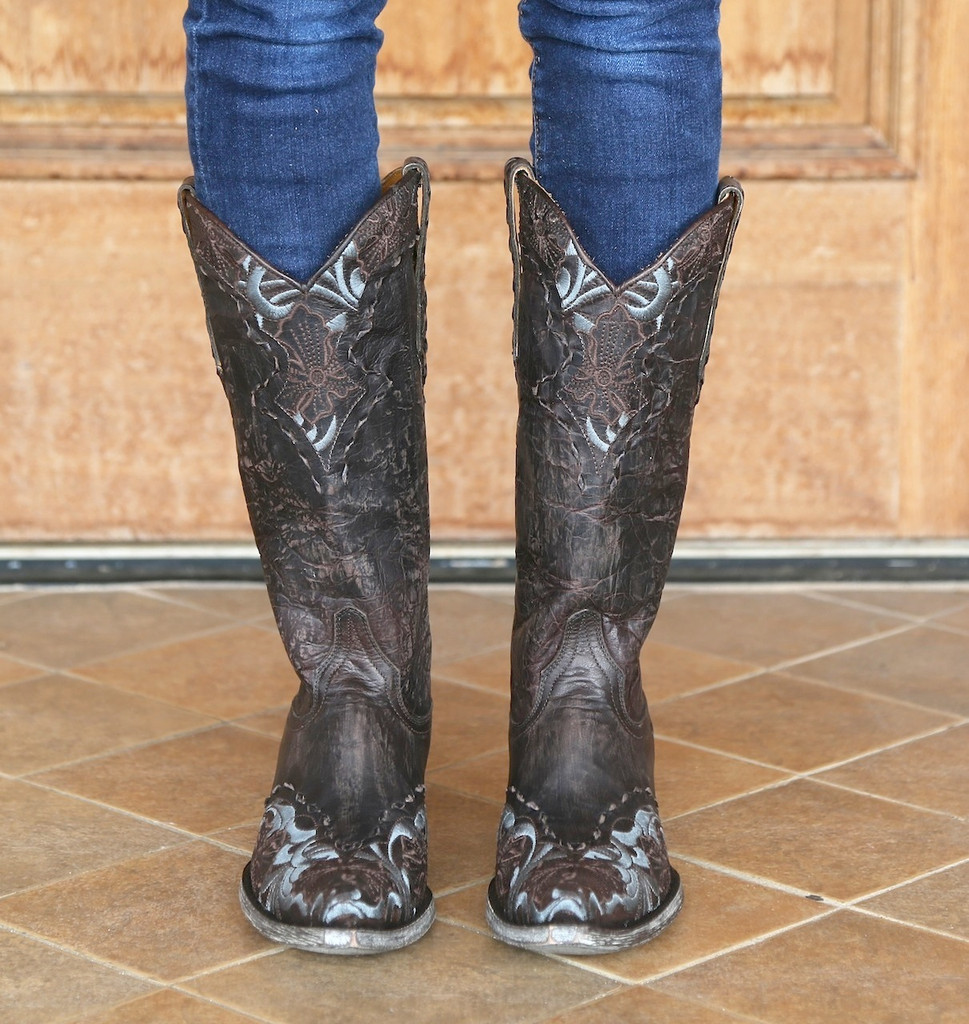 Old Gringo Chocolate Erin Boots L640-1