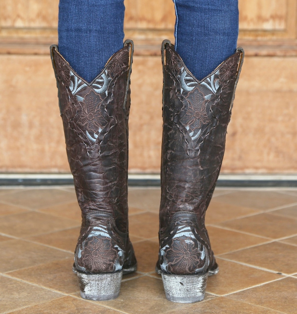 Old Gringo Erin Chocolate Cowgirl Boot Image