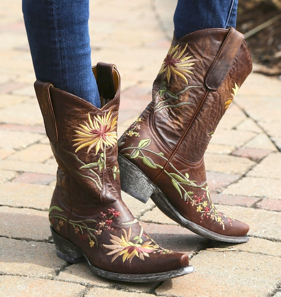 Old Gringo Ellie Brass Yellow Boots