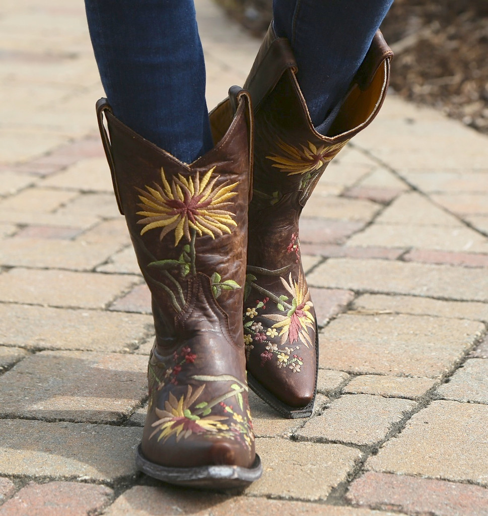 Old Gringo Ellie Brass Yellow Boot L575-10
