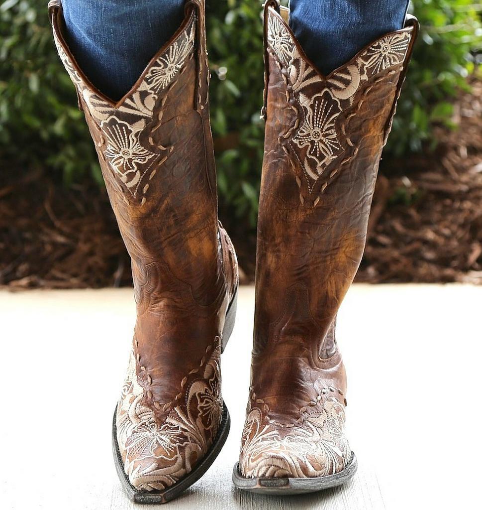 Old Gringo Erin Brass Bone Boots L640-4 Toe