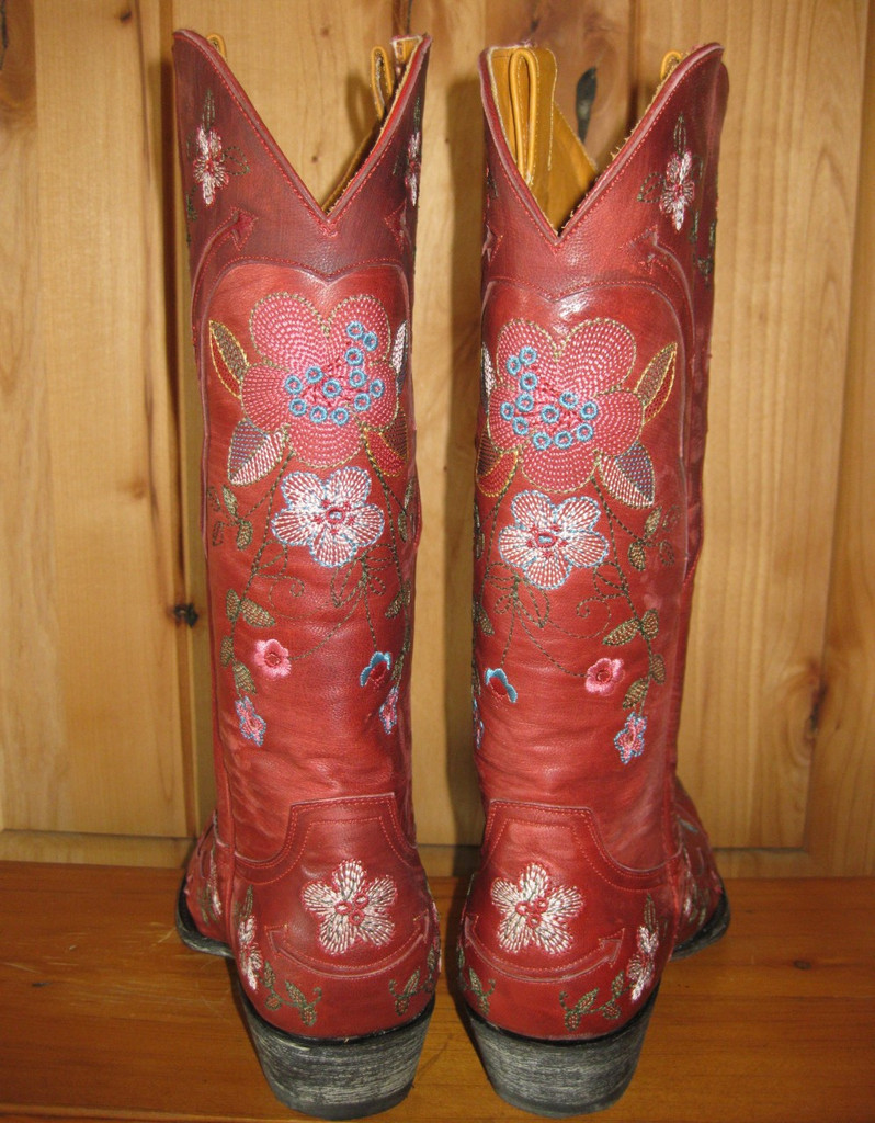 Old Gringo Bonnie Red Boots L649-3 Back Picture