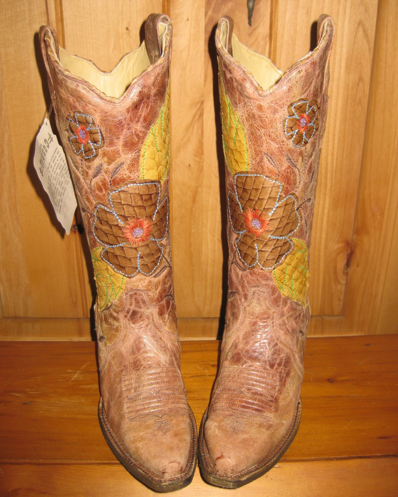Corral Daisy Cognac Cowgirl Boots A2048 Toe Picture