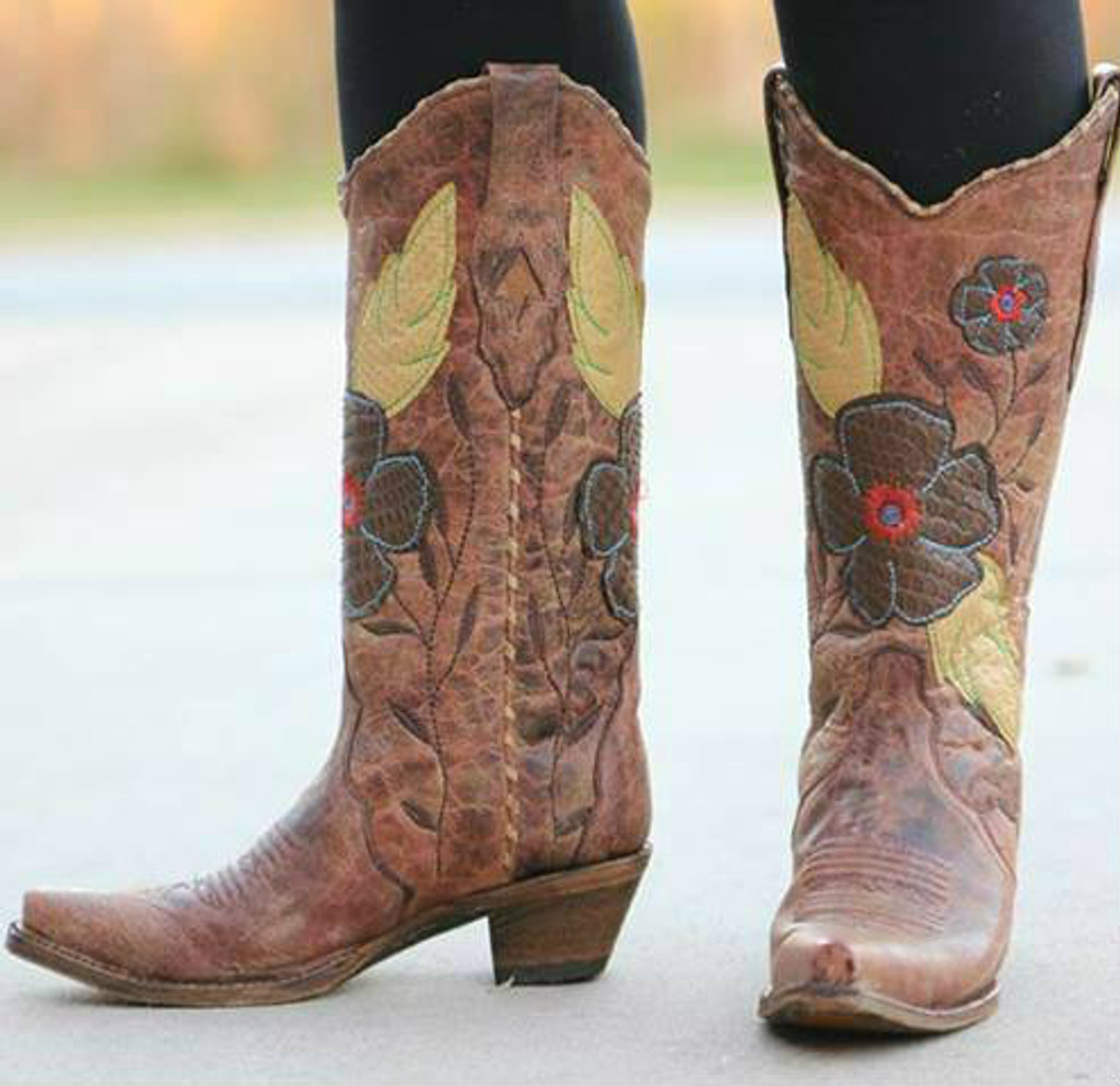 Corral Daisy Cognac Cowgirl Boots A2048 Main Picture
