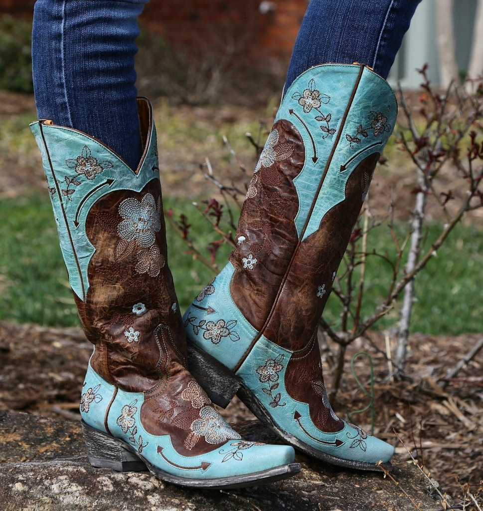 Old Gringo Bonnie Aqua Boots L649-4 Picture