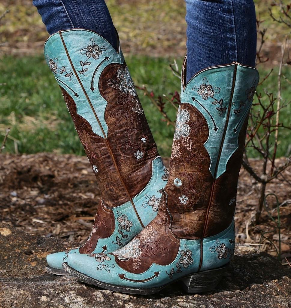 Old Gringo Bonnie Aqua Boots L649-4 Image