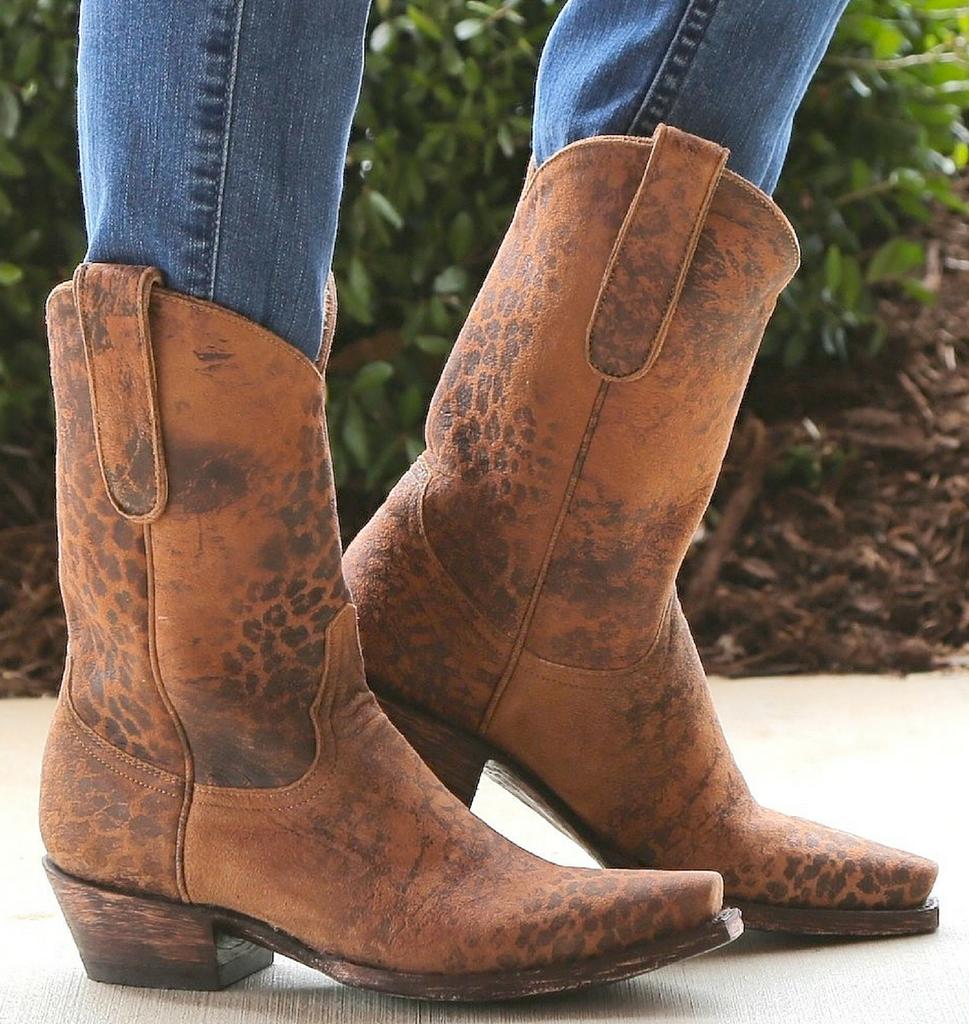"Old Gringo Leopardito Ocre Short Boots L168-1 10"" Picture"