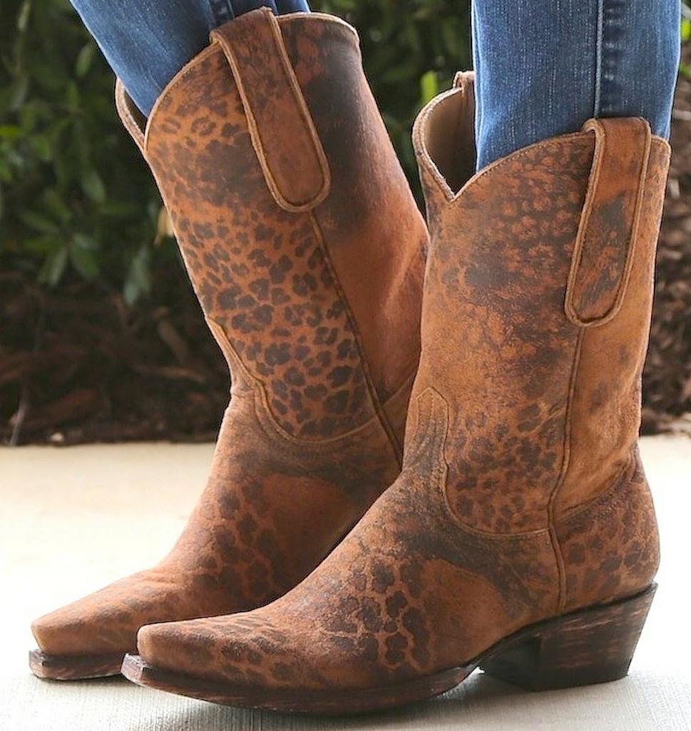 "Old Gringo Leopardito Ocre Short Boots L168-1 10"" Image"