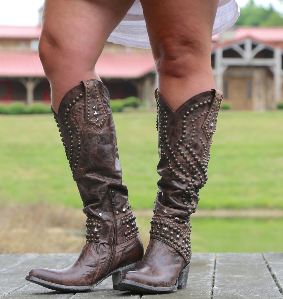 Old Gringo Belinda Chocolate Boots L903-8 Zipper