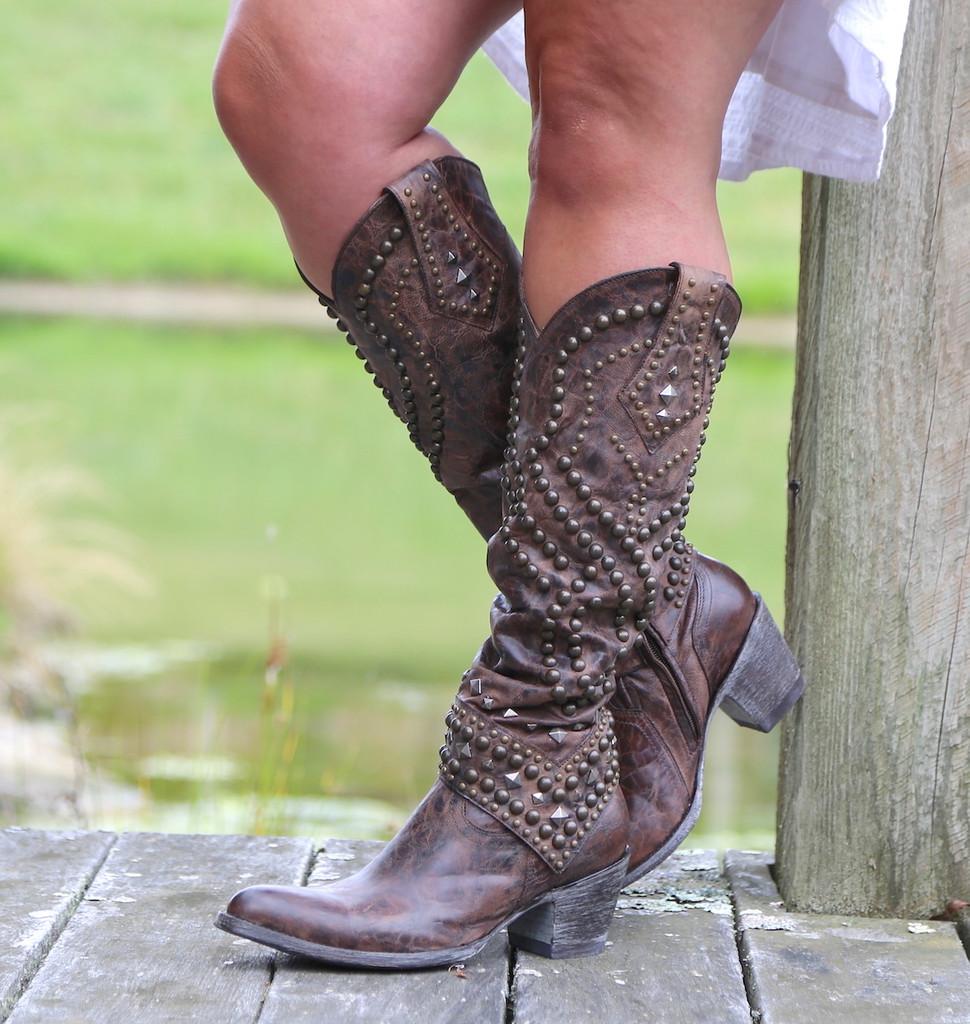 Old Gringo Belinda Chocolate Boots L903-8 Studs
