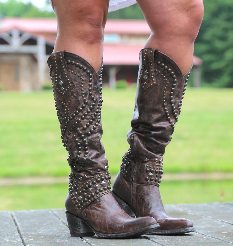 Old Gringo Belinda Chocolate Boots L903-8 Image