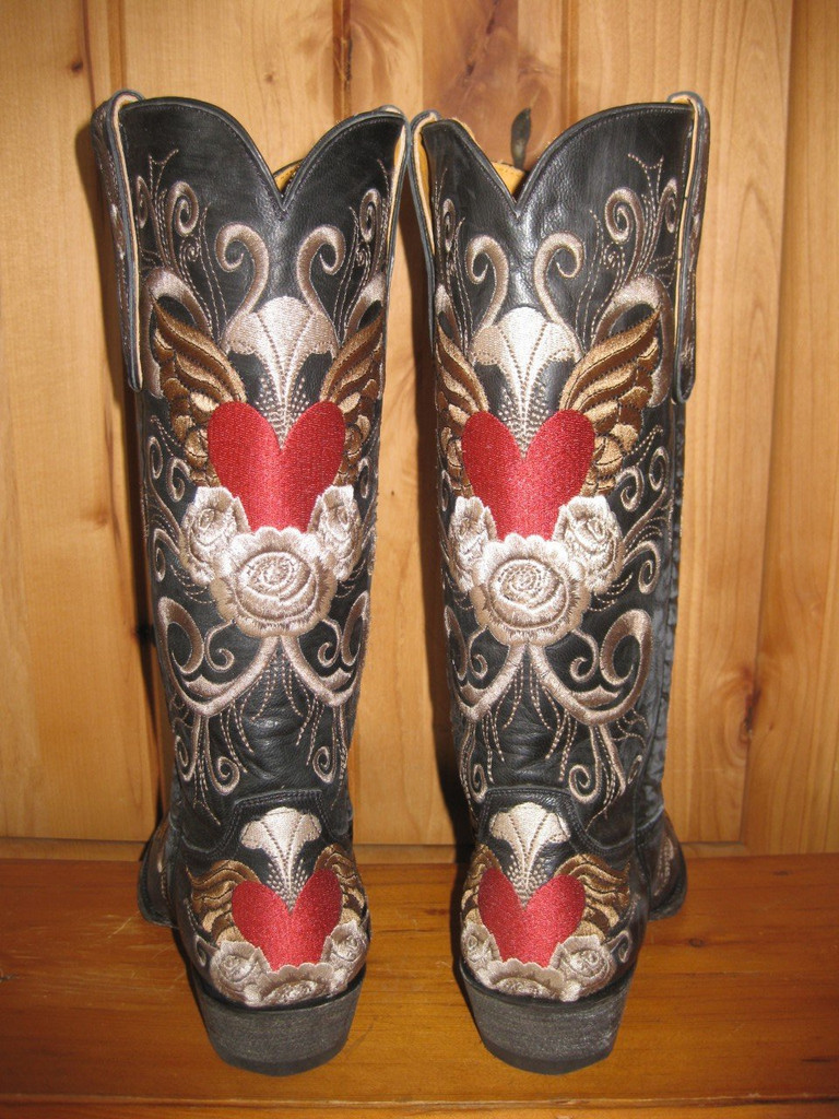 Old Gringo Grace Black Boots L639-1 Back