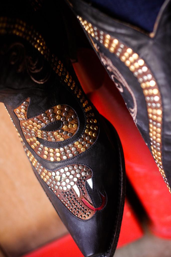 Old Gringo Snake Black Boots L1055-1 Image