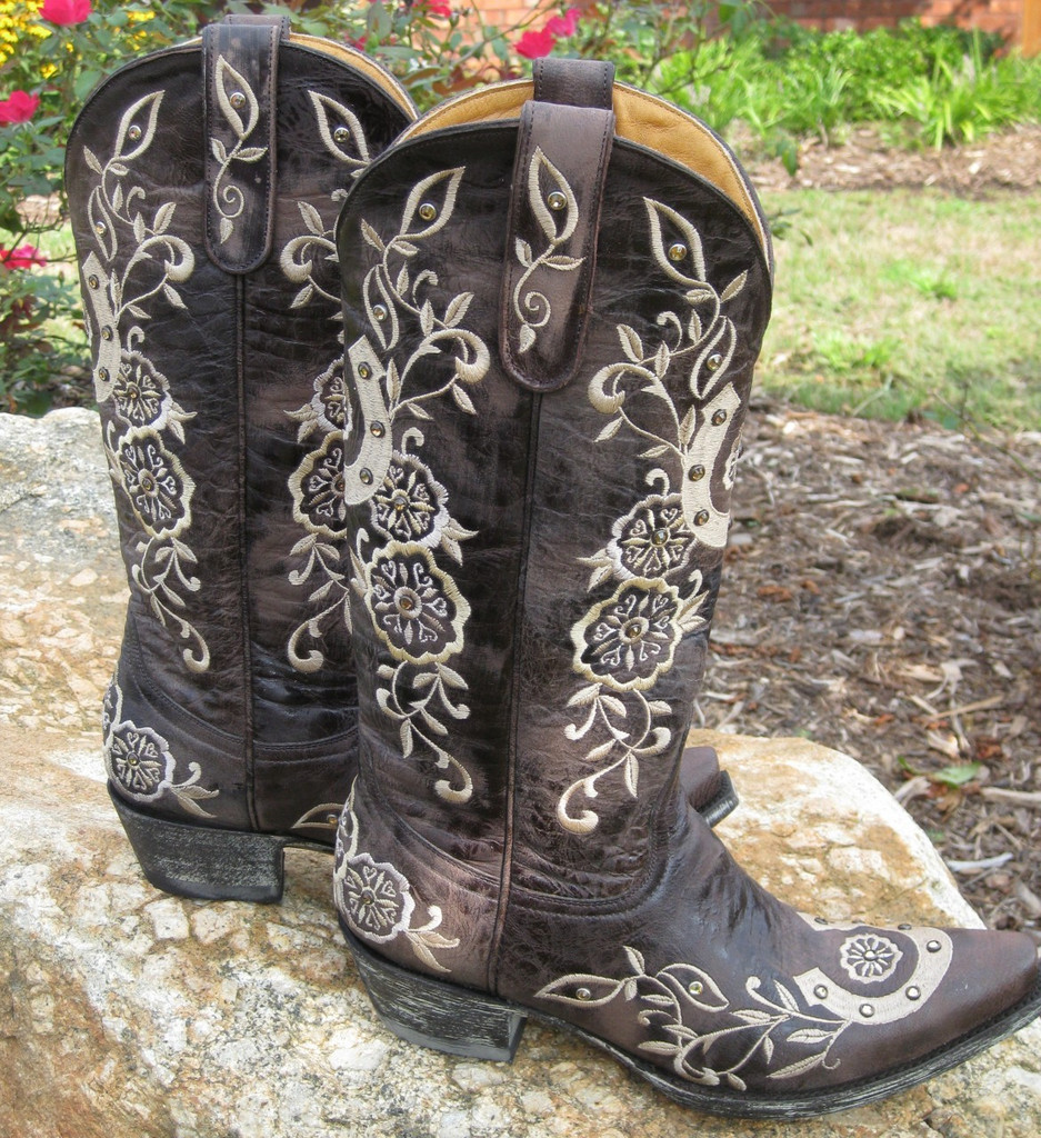Old Gringo Lucky Chocolate Boots L515-4 Top Picture