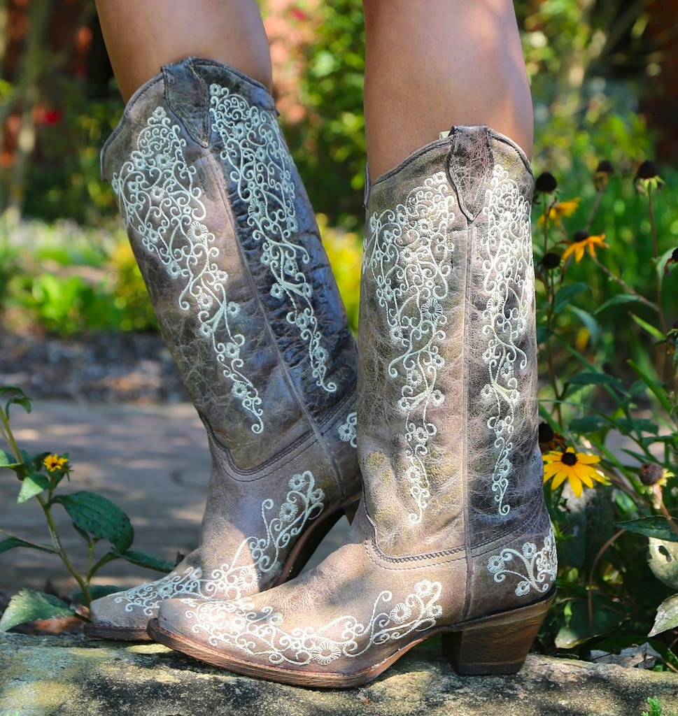 Corral Boots Brown Crater Bone A1094 Image