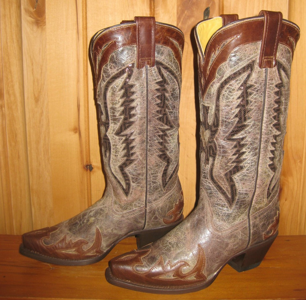 Corral Brown Eagle Inlay Boots R1111 Picture