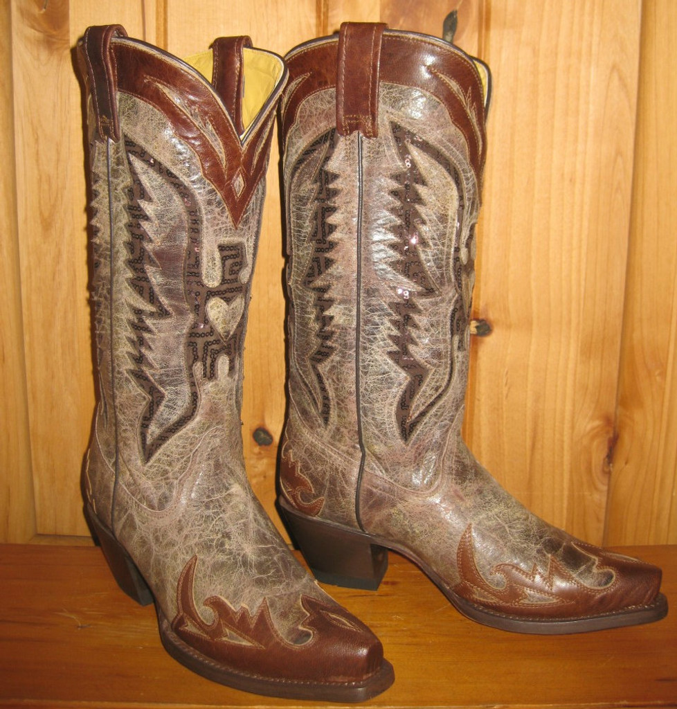 Corral Brown Eagle Inlay Boots R1111