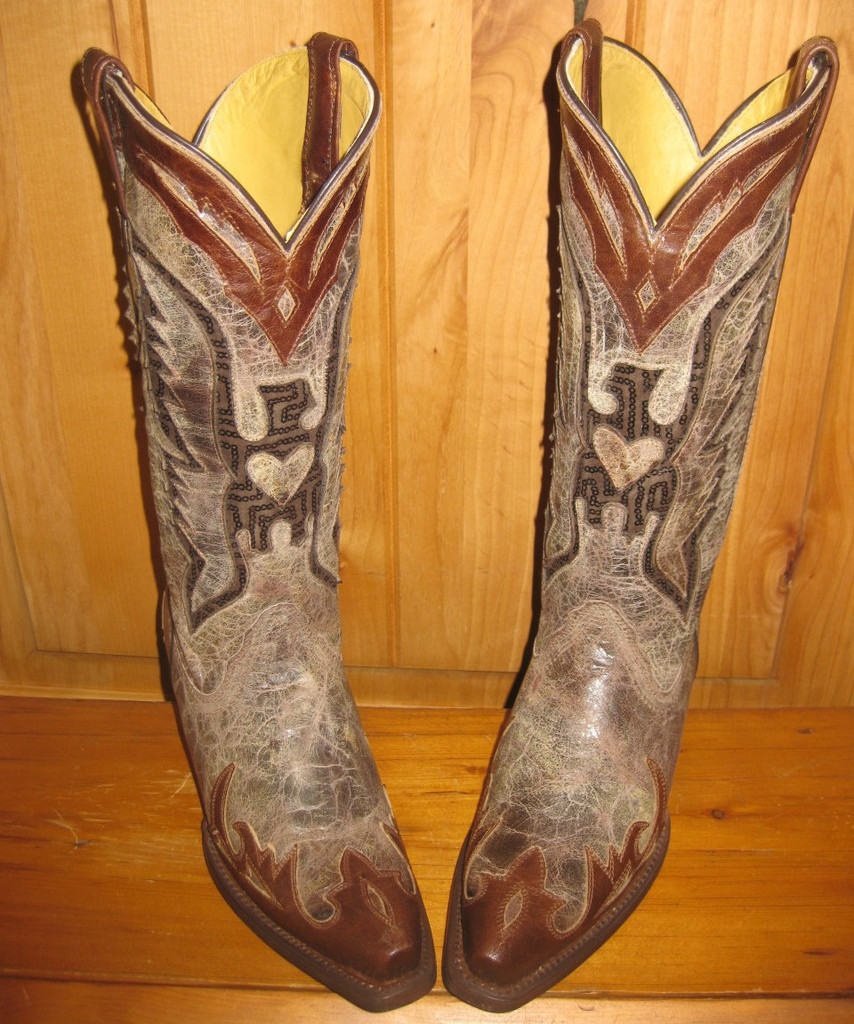 Corral Brown Eagle Inlay Boots