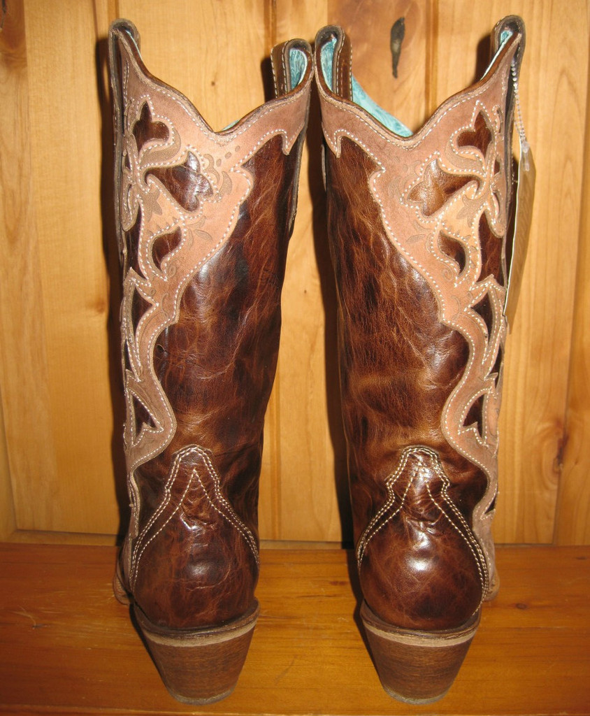Corral Chocolate Tooled Laser Cowgirl Boot C1933