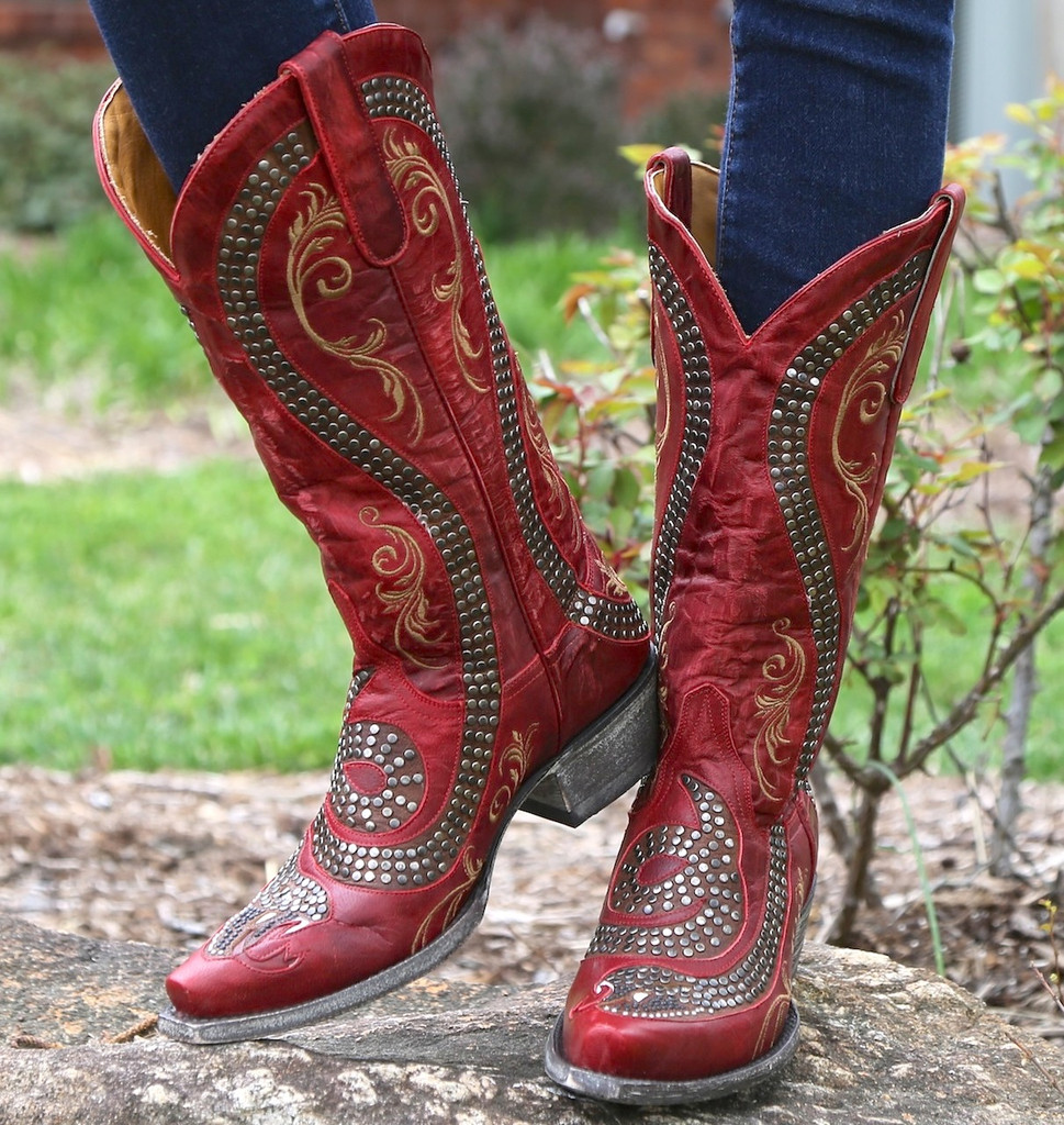 Old Gringo Snake Red Boots L1055-3 Picture