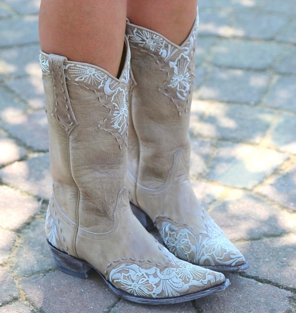 Old Gringo Erin Vesuvio Bone Cowgirl Boot L640-3 Photo