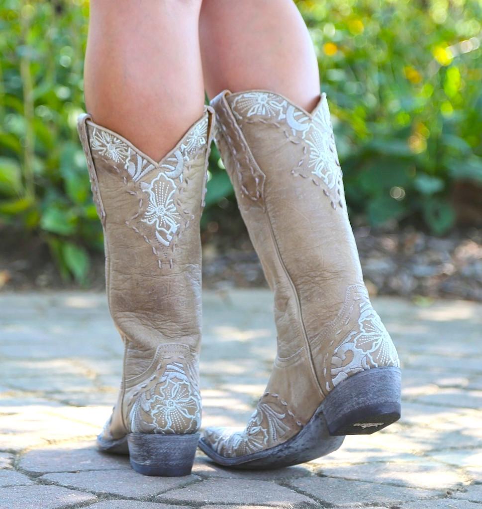 Old Gringo Erin Vesuvio Bone Cowgirl Boot L640-3 Heel