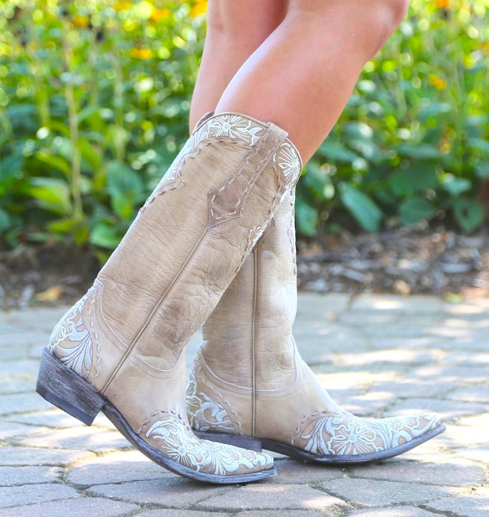 Old Gringo Erin Vesuvio Bone Cowgirl Boot L640-3 Picture