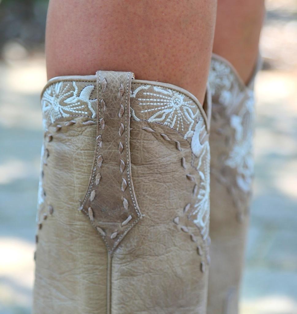 Old Gringo Erin Vesuvio Bone Cowgirl Boot L640-3 Collar