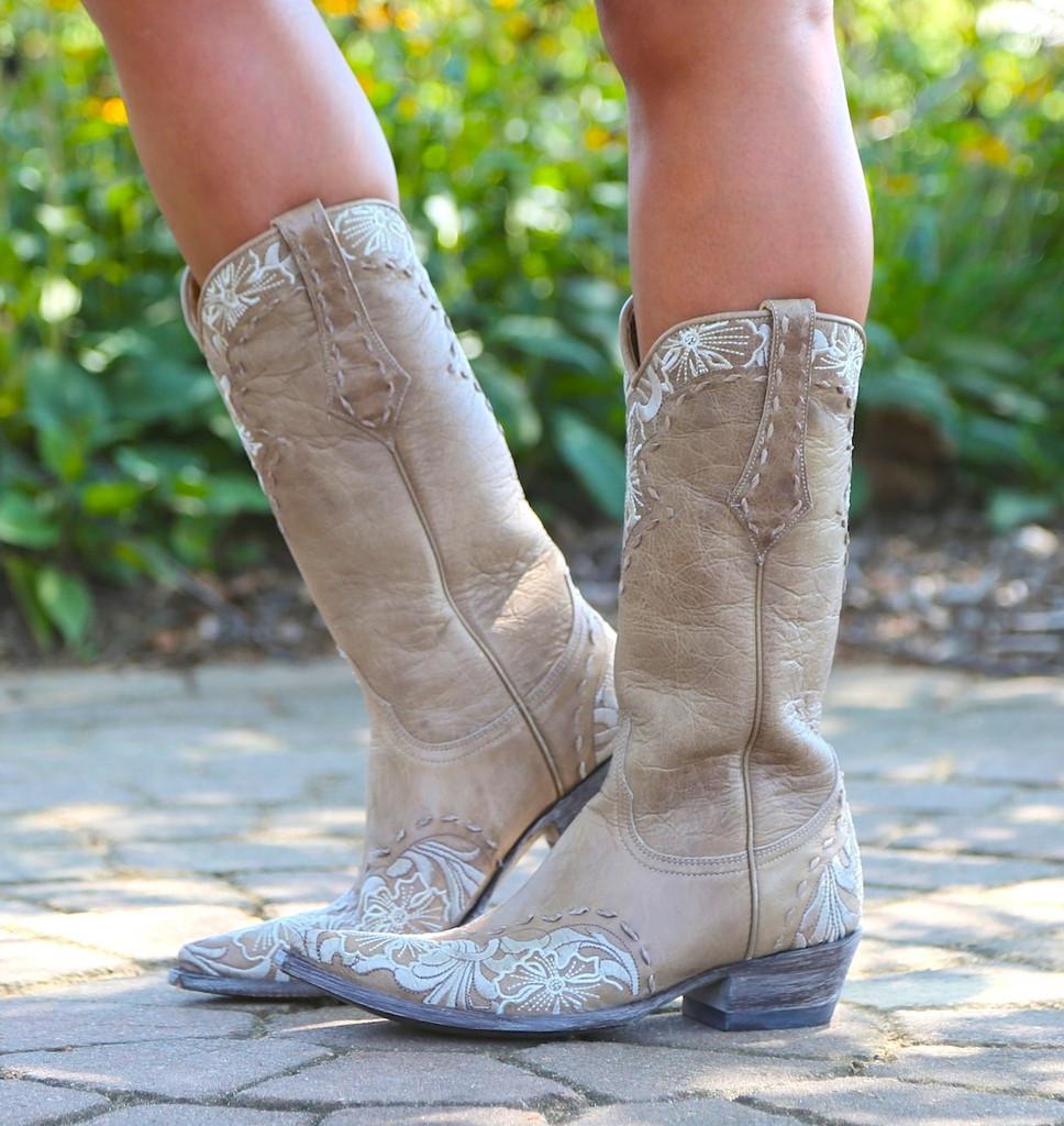 Old Gringo Erin Vesuvio Bone Cowgirl Boot L640-3 Image