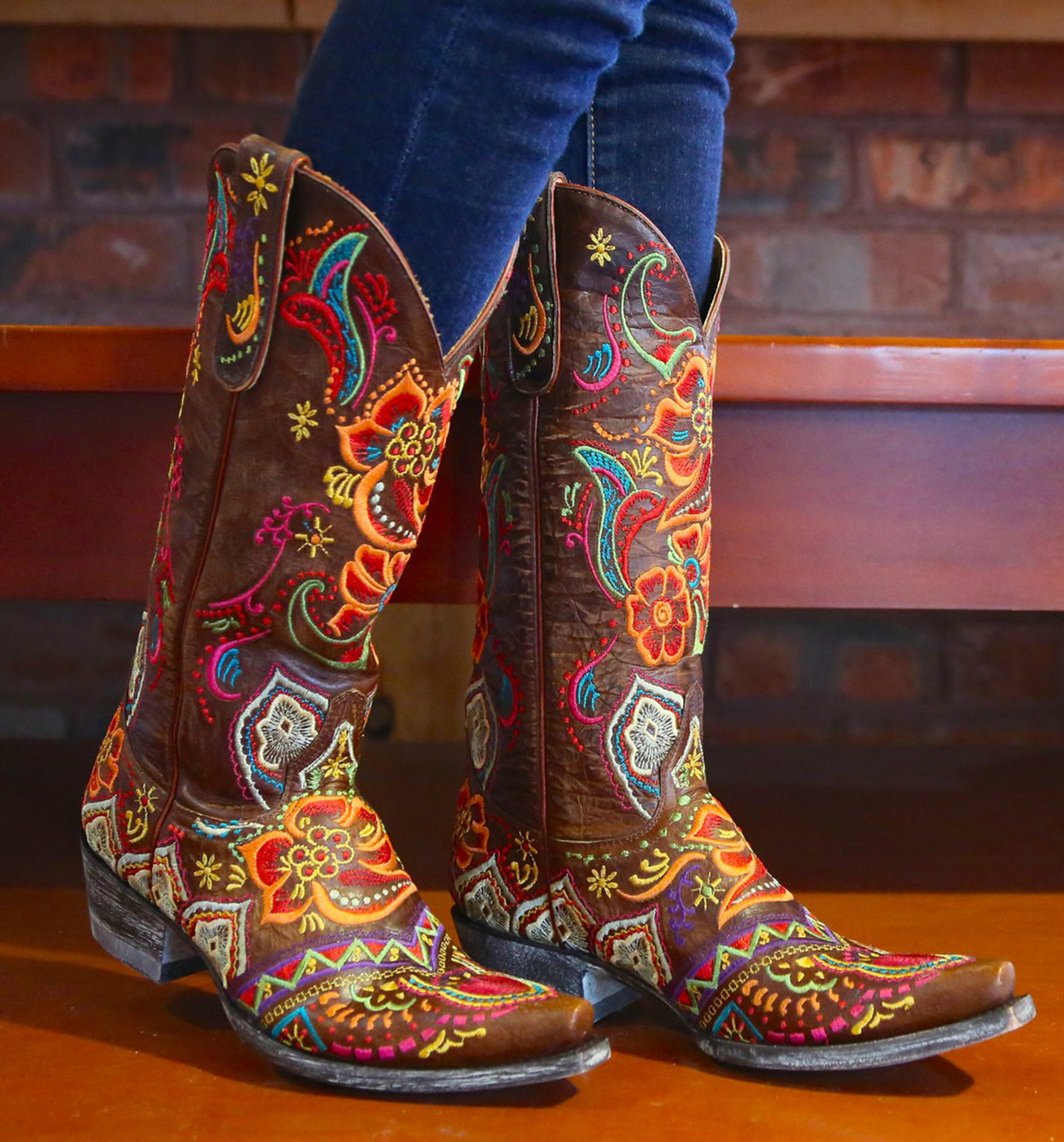 57437e1251b Old Gringo Olivia Brass Boots L1629-3