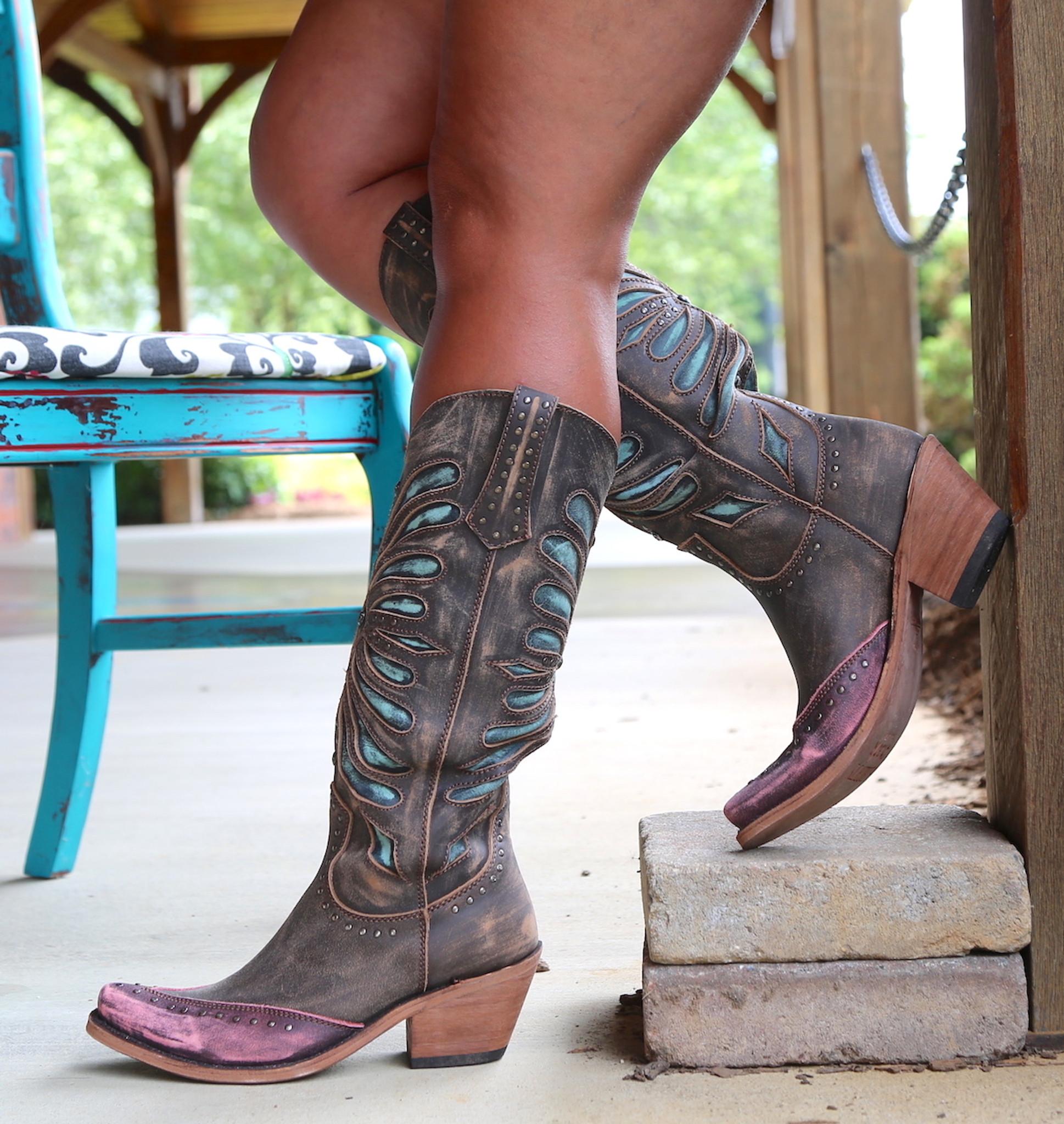 liberty black vintage canela boots