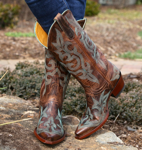Old Gringo Diego Rust & Turquoise Boot